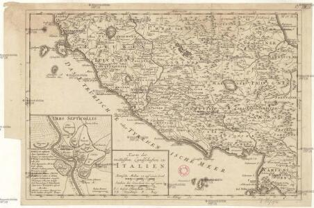 Karte der mittelsten Landschaften in Italien