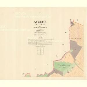 Aussee (Hausow) - m3235-1-001 - Kaiserpflichtexemplar der Landkarten des stabilen Katasters