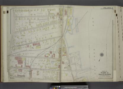 Part of Ward 4. [Map bound by Vanderbilt Ave,         Pierhead Line, North St, Front St, Maple Ave, Edgewater St (Bay St), Bay St (New York Ave), Chestnut Ave, Tompkins Ave (Centre St)]