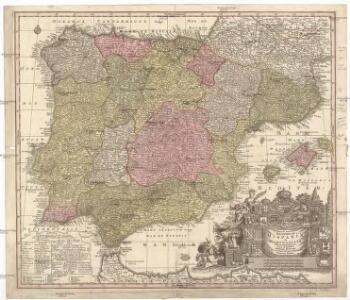 Novissima et accuratissima regnorum Hispaniae et Portugalliae mappa geographica