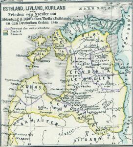 Esthland, Livland, Kurland vom Frieden von Stenby 1238 bis zur Abtretung des Dänischen Theils von Esthland an den Deutschen Orden 1346