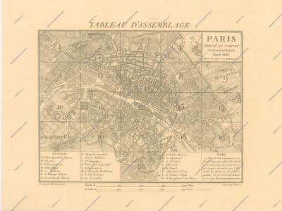 La Topographie de Paris ou Plan détaillé de la Ville de Paris