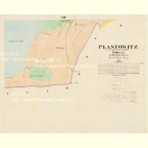 Plastowitz - c5816-1-007 - Kaiserpflichtexemplar der Landkarten des stabilen Katasters
