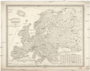 General-Karte von Europa