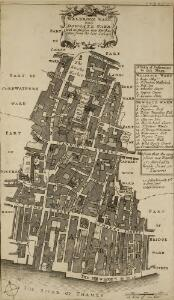 WALBROOK WARD and DOWGATE WARD with its Division into Parishes taken from the last Survey 40A