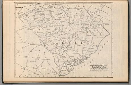 Railway Distance Map of the State of South Carolina