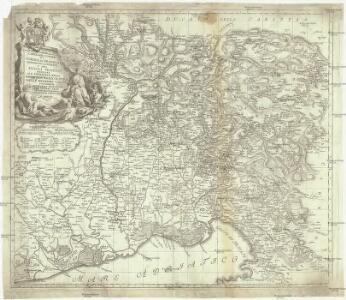 Carta delle contee di Gorizia, di Gradisca, distetto di Trieste, e del Friuli Veneto