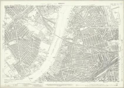 London (1915- Numbered sheets) VIII.8 (includes: Battersea; Chelsea; Fulham) - 25 Inch Map