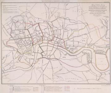 Map of London, shewing the BOUNDARIES of the GENERAL and Two Penny Post