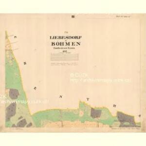 Liebesdorf - c1905-1-003 - Kaiserpflichtexemplar der Landkarten des stabilen Katasters