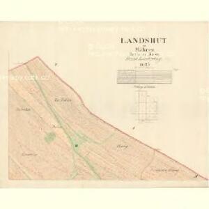 Landshut - m1469-1-002 - Kaiserpflichtexemplar der Landkarten des stabilen Katasters