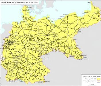 Eisenbahnen im Deutschen Reich 31.12.1880