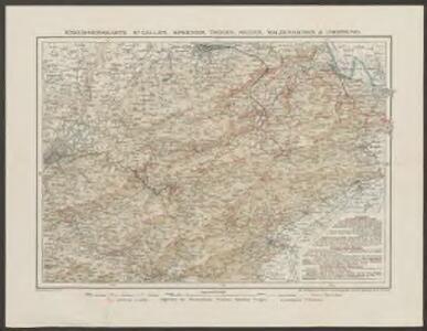 Exkursionskarte St. Gallen, Speicher, Trogen, Heiden, Walzenhausen & Umgebung