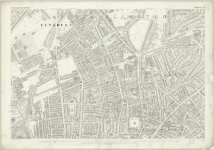 London (First Editions c1850s) XVII (includes: Islington) - 25 Inch Map