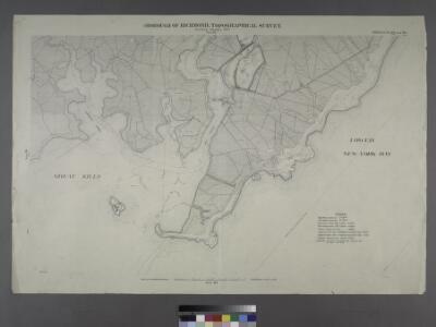 Sheet Nos. 79 & 80. [Include Oyster Island, Lockman's Creek, Flat Creek and Mill Creek Estuaries.]; Borough of Richmond, Topographical Survey.