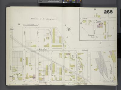Brooklyn, V. 9, Double Page Plate No. 265 [Map bounded by Cementery of the Evergreens, Broadway, Furman Ave.]