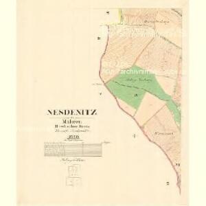 Nesdenitz - m1972-1-003 - Kaiserpflichtexemplar der Landkarten des stabilen Katasters