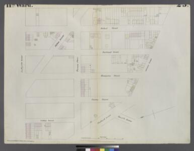 [Plate 23: Map bounded by Lafayette Avenue, Cumberland Street, Atlantic Avenue, 4th Avenue, Raymond Street]