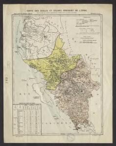 Carte des écoles et des églises grecques de l'Epire