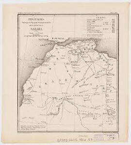 Itinéraires suivis par les voyages Français et autres qui ont pénétré dans le Sahara