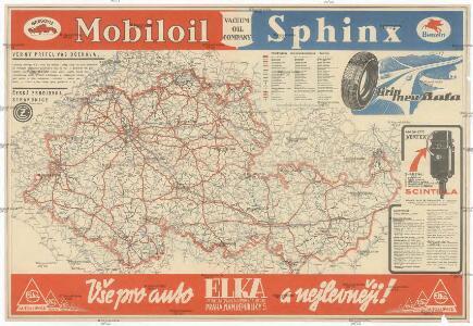 Mapa o stavu silnic v Protektorátu Čechy a Morava