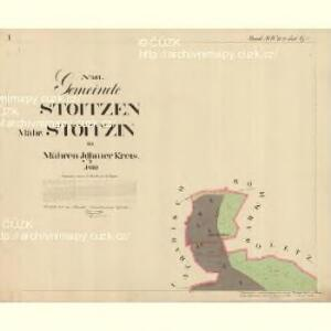 Stoitzen - m2885-1-001 - Kaiserpflichtexemplar der Landkarten des stabilen Katasters