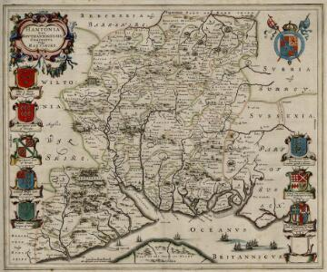 Hantonia, sive Southantonensis Comitatus, vulgo Hantshire.