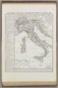 Carta generale dell'Italie e delle provincie austriache sull'Adriatico.
