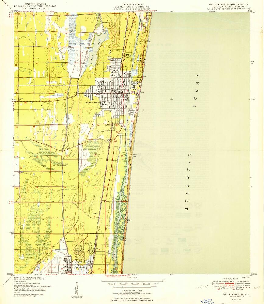 Map Of Florida Showing Delray Beach.Delray Beach