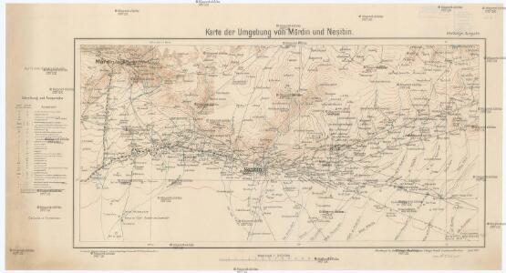 Karte der Umgebung von Mardin und Ne\0219ibîn