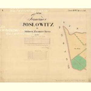 Joslowitz - m1044-1-002 - Kaiserpflichtexemplar der Landkarten des stabilen Katasters