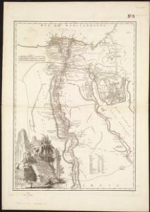 Carte de l'Egypte ancienne et moderne