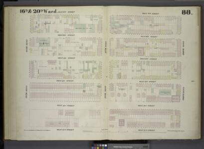 [Plate 88: Map bounded by West 27th Street, Eighth Avenue, West 22nd Street, Tenth Avenue.]