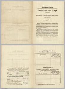 (Order form for) Generalkarte von Europe.