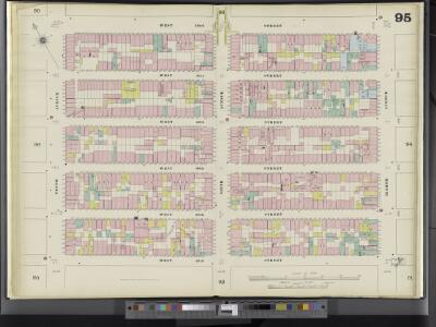 Manhattan, V. 5, Double Page Plate No. 95 [Map bounded by W. 42nd St., 8th Ave., W. 37th St., 10th Ave.]