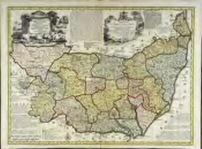 An accurate map of the county of Suffolk