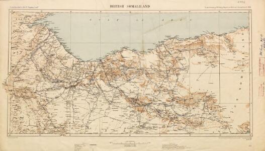British Somaliland [showing routes] (1926)
