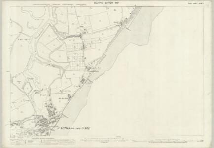 Essex (1st Ed/Rev 1862-96) XXXIX.3 (includes: Frinton and Walton) - 25 Inch Map