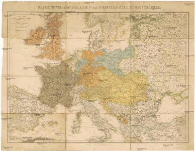 Übersicht des Ländergebiets der Westeuropäischen Grossmächte