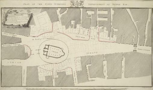 PLAN OF THE CITYS INTENDED IMPROVEMENT AT TEMPLE BAR.