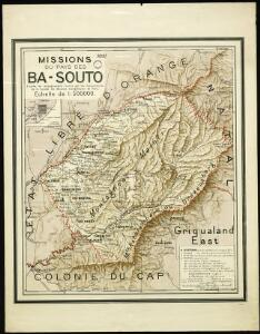 Ba-Souto mission area based on information provided by the missionaries of the Society of Evangelical Missions of Paris.