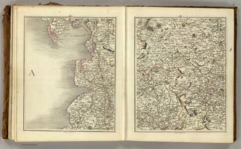 Sheets 49-50.  (Cary's England, Wales, and Scotland).