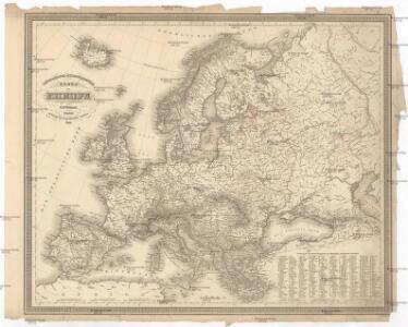 Orographisch-hydrographische Karte von Europa