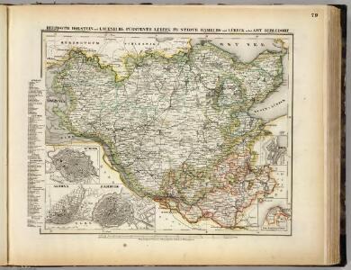 Holstein, Lauenburg, Lubeck, Hamburg.