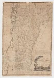 A correct map of the State of Vermont, from actual survey : exhibiting the county and town lines, rivers, lakes, ponds, mountains, meetinghouses, mills, public roads, &c