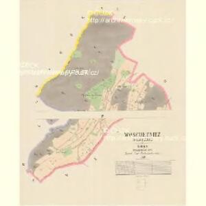 Woschetnitz (Wossetnice) - c5522-1-001 - Kaiserpflichtexemplar der Landkarten des stabilen Katasters