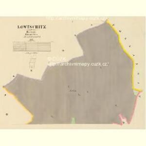 Lowtschitz - c4266-1-001 - Kaiserpflichtexemplar der Landkarten des stabilen Katasters