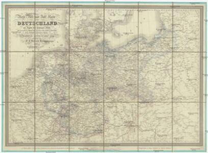 Reise-, Post- und Zoll-Karte von Deutschland