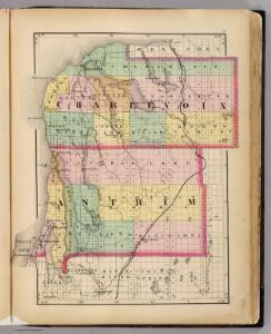 (Map of Charlevoix and Antrim counties, Michigan)
