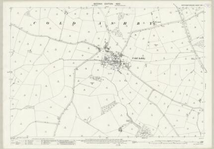 Northamptonshire XXX.1 (includes: Cold Ashby; Thonby) - 25 Inch Map